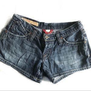 Lucky brand dark denim shorts